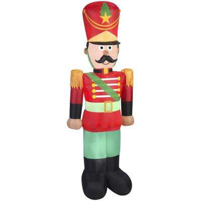7 ft. H Airblown-Toy Soldier with Mustache
