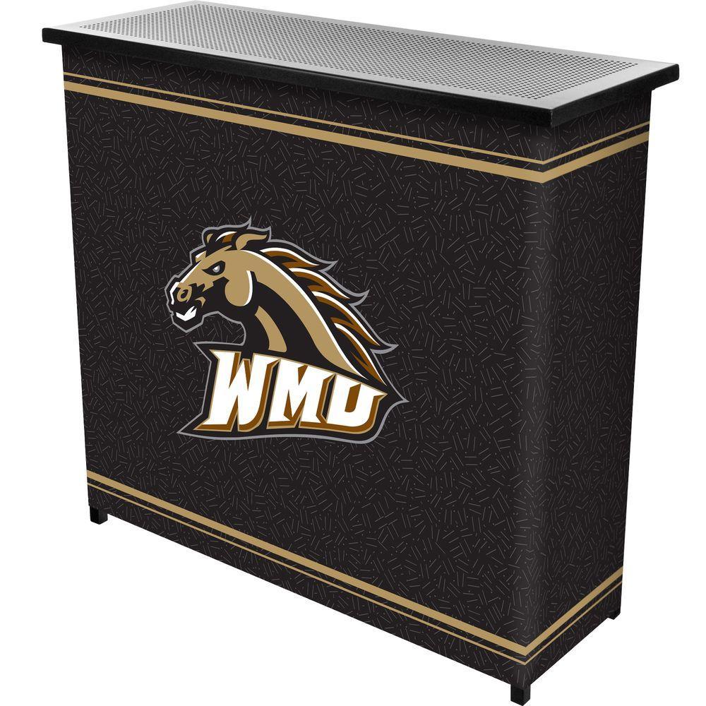 Western Michigan 2-Shelf Black Bar with Case