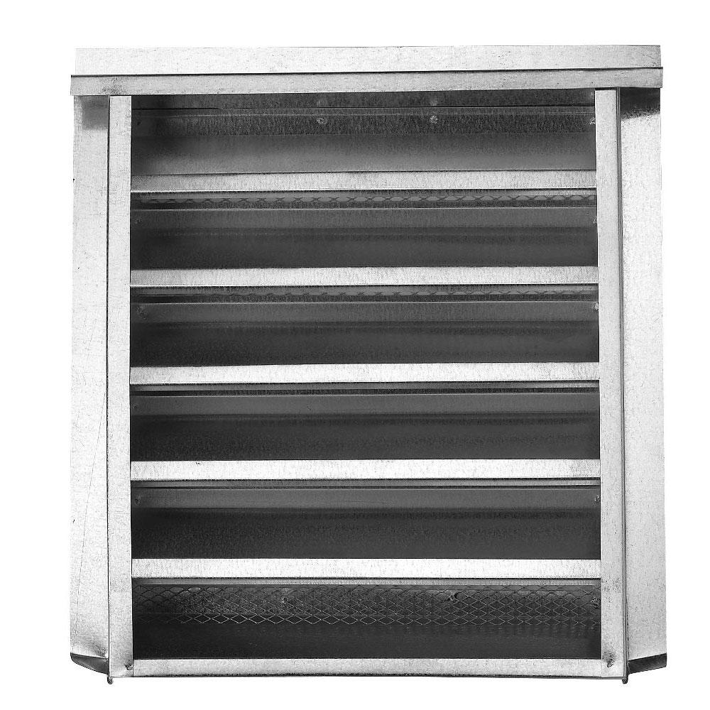 Gibraltar Building Products 14 in. x 24 in. Galvanized Louvered Gable Attic Vent with  sc 1 st  Home Depot & Gibraltar Building Products 14 in. x 24 in. Galvanized Louvered ...