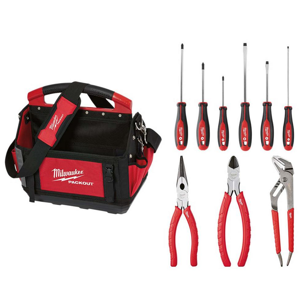 Milwaukee PACKOUT Tote & Hand Tool Set (10-Piece)