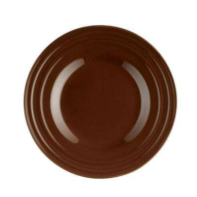 Double Ridge 4-Piece Salad Plate Set in Brown
