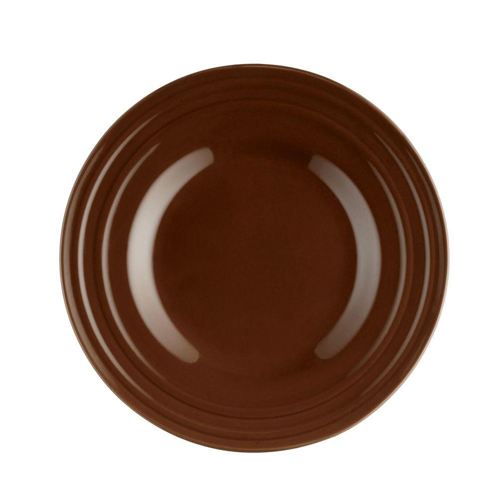 Double Ridge 4-Piece Salad Plate Set in Brown