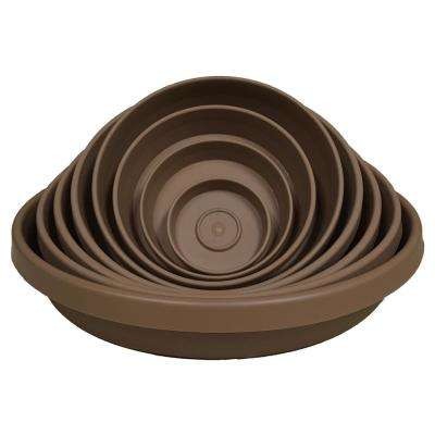 Terra Plant Saucer Tray 9 in Chocolate