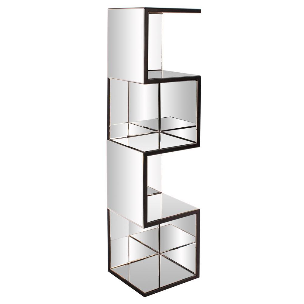 Zig Zag Mirrored Shelf
