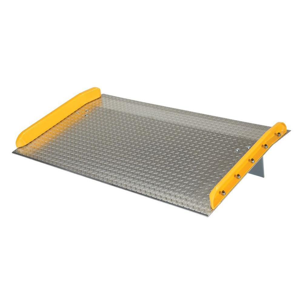 Vestil 10,000 lb. Capacity 60 in. x 36 in. Aluminum Dock Board with Steel Curb