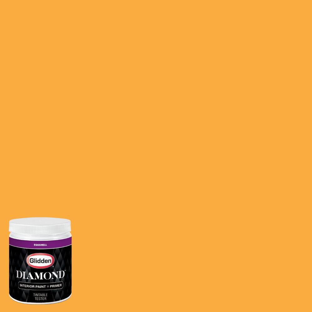 Glidden premium 8 oz nfl 166a arizona cardinals yellow for Eggshell yellow paint