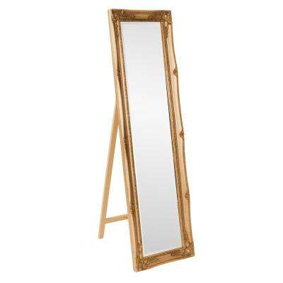 66 in. x 18 in. Antique Gold Standing Mirror
