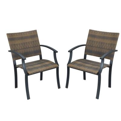 Newport Synthetic-Weave Patio Armchair (2-Pack)