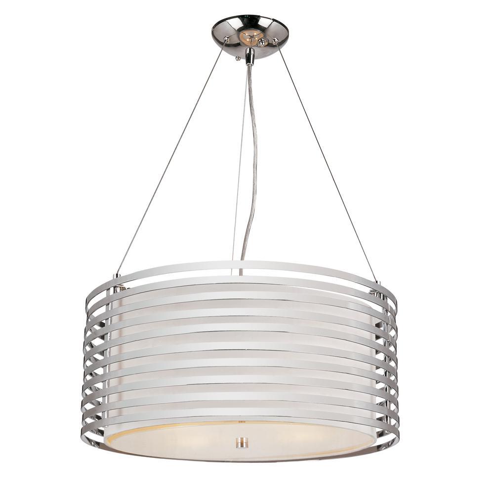Stewart 4-Light Ceiling Polished Chrome Incandescent Pendant