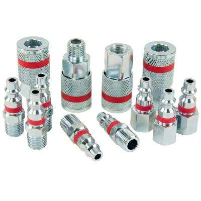 ColorMatch 1/4 in. I/M Coupler Plug Set (12-Piece)