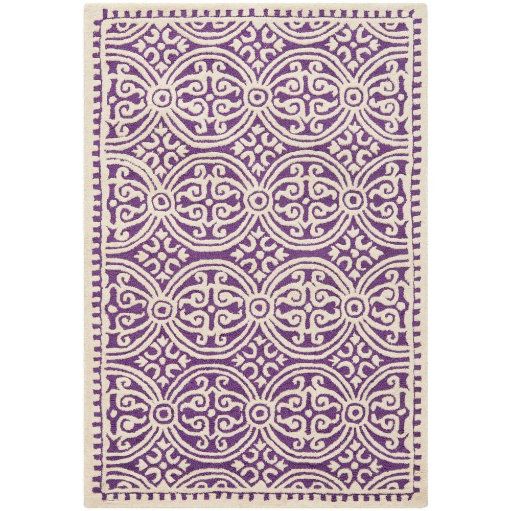Safavieh Cambridge Purple Ivory 4 Ft X 6 Ft Area Rug