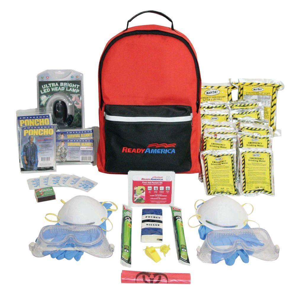 Ready America Fire/Blackout Emergency Kit 2 Person 3 Day ...