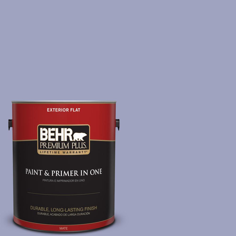 BEHR Premium Plus 1-gal. #620D-4 Veranda Iris Flat Exterior Paint