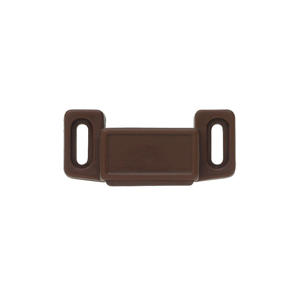 1-1/2 in. Brown Economy Magnetic Door Catch (10-Pack)