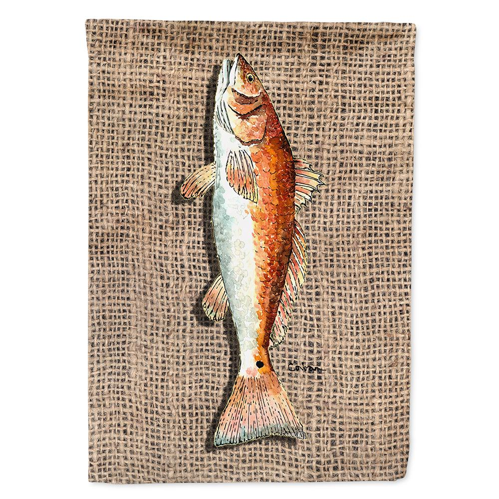 Caroline S Treasures 28 In X 40 In Polyester Fish Red Fish Flag Canvas House Size 2 Sided Heavyweight 8736chf The Home Depot