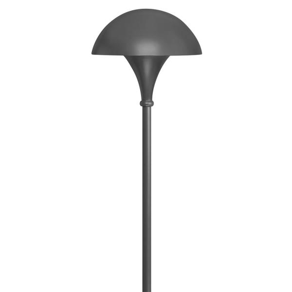 Mushroom Line Voltage Charcoal Grey Incandescent Path Light