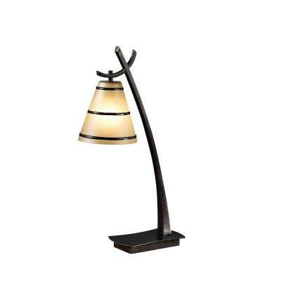 Wright 24 in. Amber Scavo Bronze Table Lamp