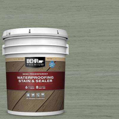 5 gal. #ST-143 Harbor Gray Semi-Transparent Waterproofing Exterior Wood Stain and Sealer