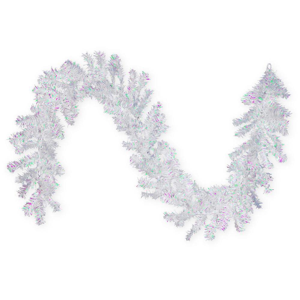 6 ft. White Iridescent Tinsel Garland