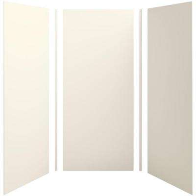 Choreograph 42in. X 42 in. x 96 in. 5-Piece Shower Wall Surround in Biscuit for 96 in. Showers