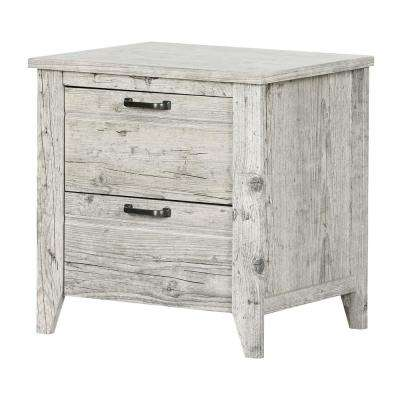 Lionel 2-Drawer Seaside Pine Nightstand