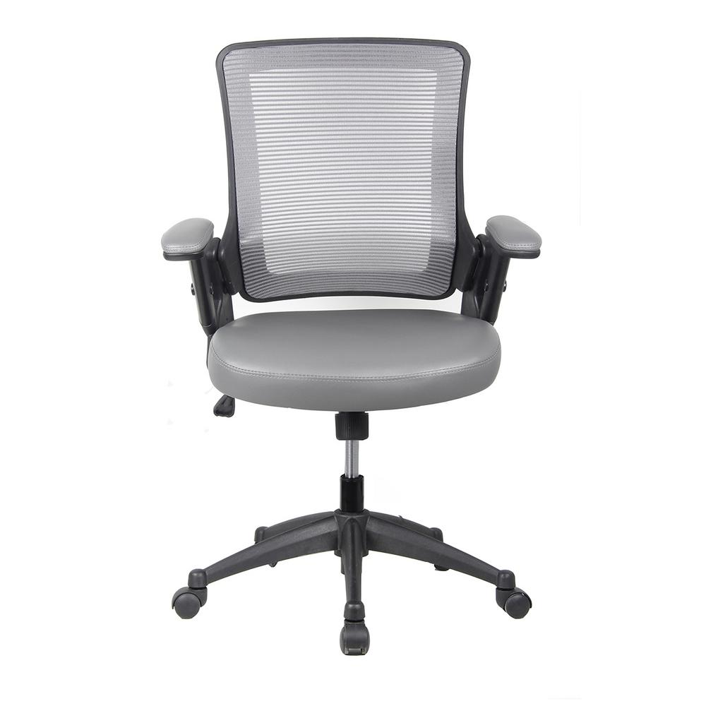 Techni Mobili Gray Mid-Back Mesh Task Office Chair With