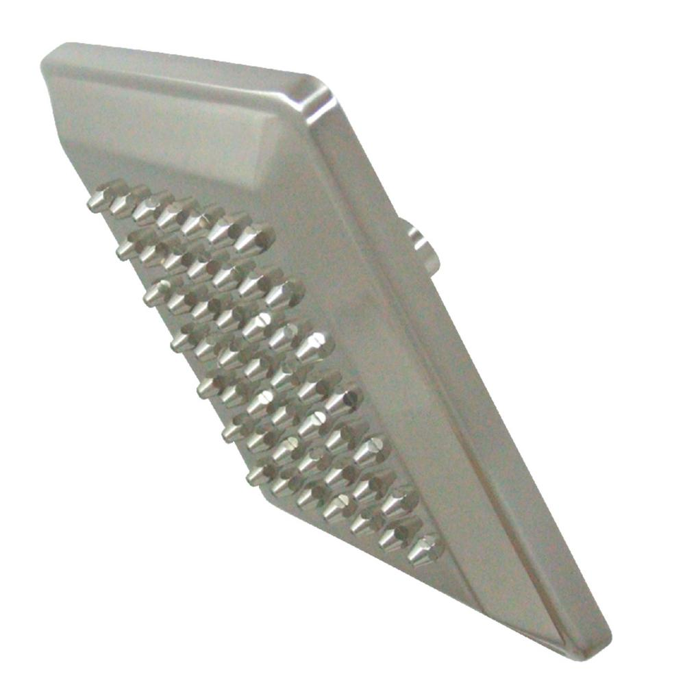 Kingston Brass Claremont 1-Spray 8 in. Showerhead in Brushed Nickel