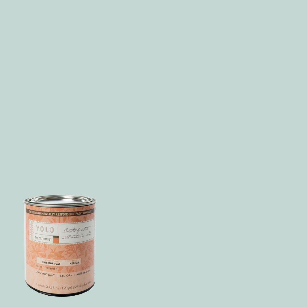 YOLO Colorhouse 1-Qt. Wool .01 Flat Interior Paint-DISCONTINUED