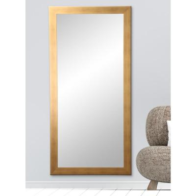 Oversized Gold/Copper Composite Hooks Industrial Mission Modern Mirror (65.5 in. H X 32 in. W)