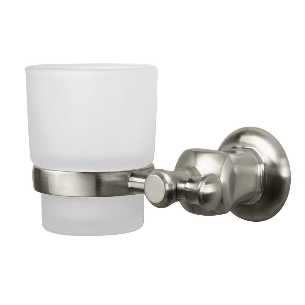 Pegasus Verdanza Wall Mounted Tumbler Holder In Brushed Nickel