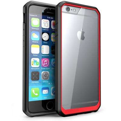 Unicorn Beetle Hybrid Bumper Case for Apple iPhone 6/6S, Clear/Red