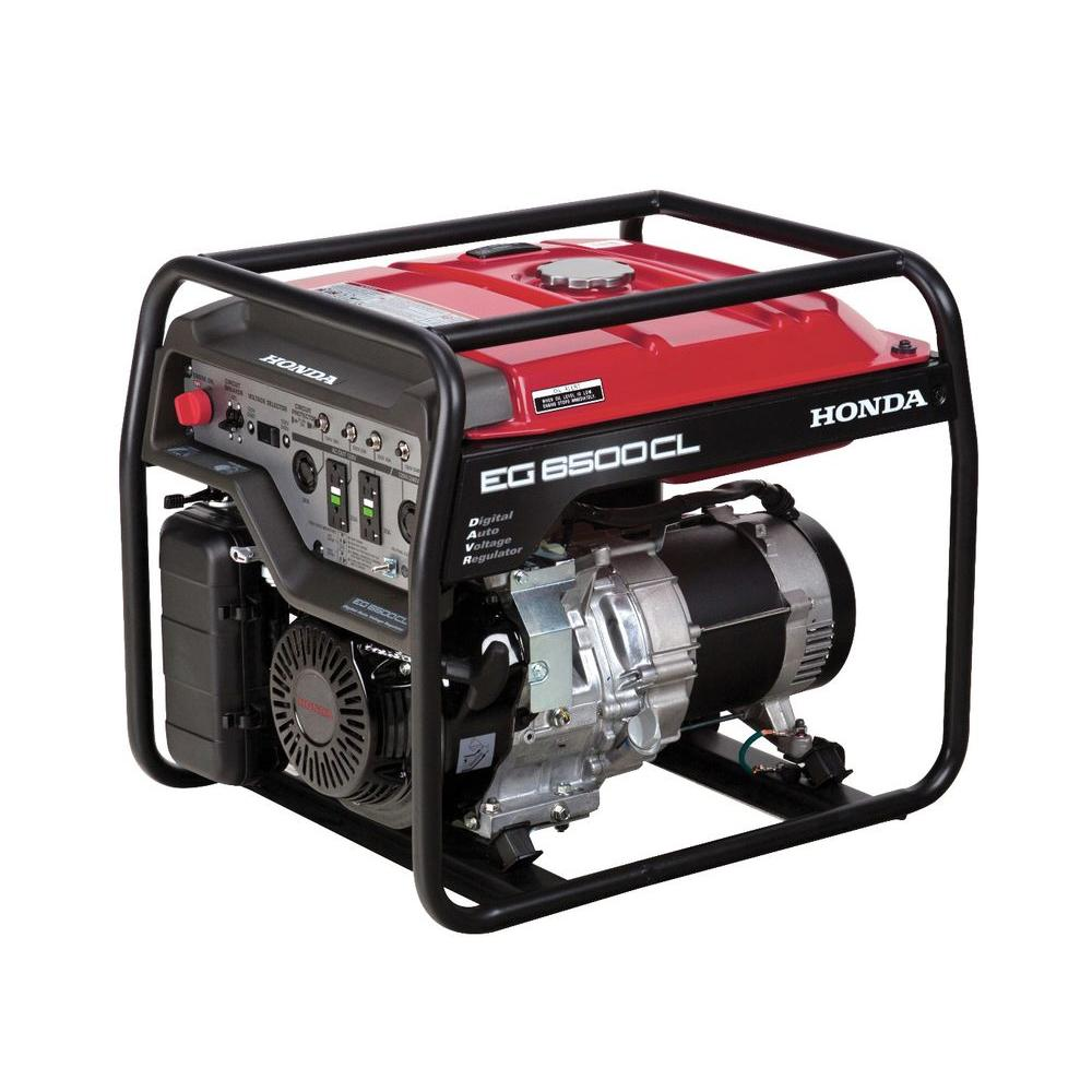 Honda 6500-Watt Gasoline Powered Portable Generator with GFCI Duplex Outlet Protection and GX390 OHV Commercial Engine
