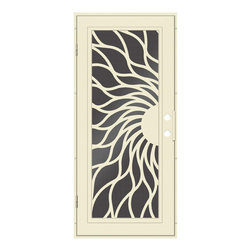 Unique Home Designs 30 in. x 80 in. Sunfire Beige Hammer Left-Hand ...