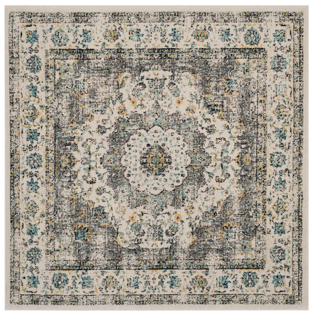 Safavieh Paris Shag Silver 9 Ft X 9 Ft Square Area Rug