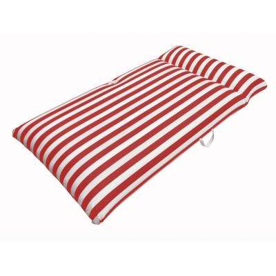 Morgan Dwyer Signature Series Pool Chaise Mattress - Red Luxury Fabric Float for Swimming Pools