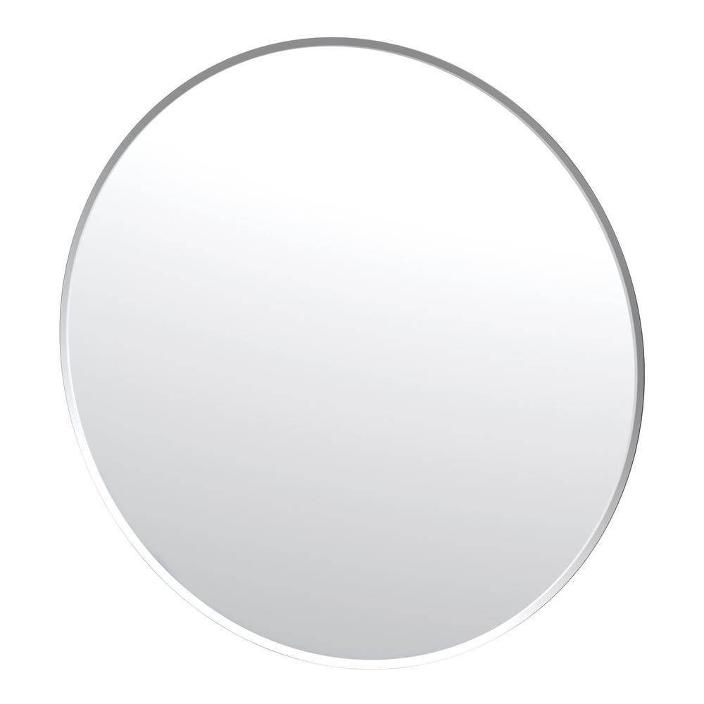 Flush Mount 35 in. x 35 in. Frameless Round Mirror