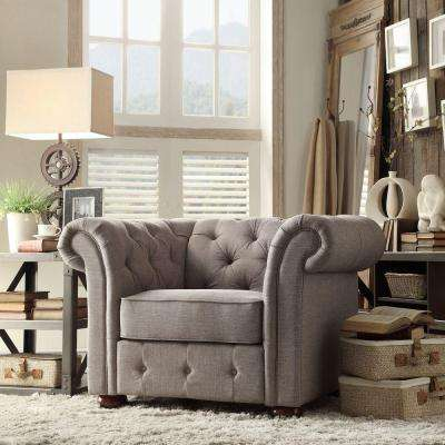 Radcliffe Grey Linen Arm Chair