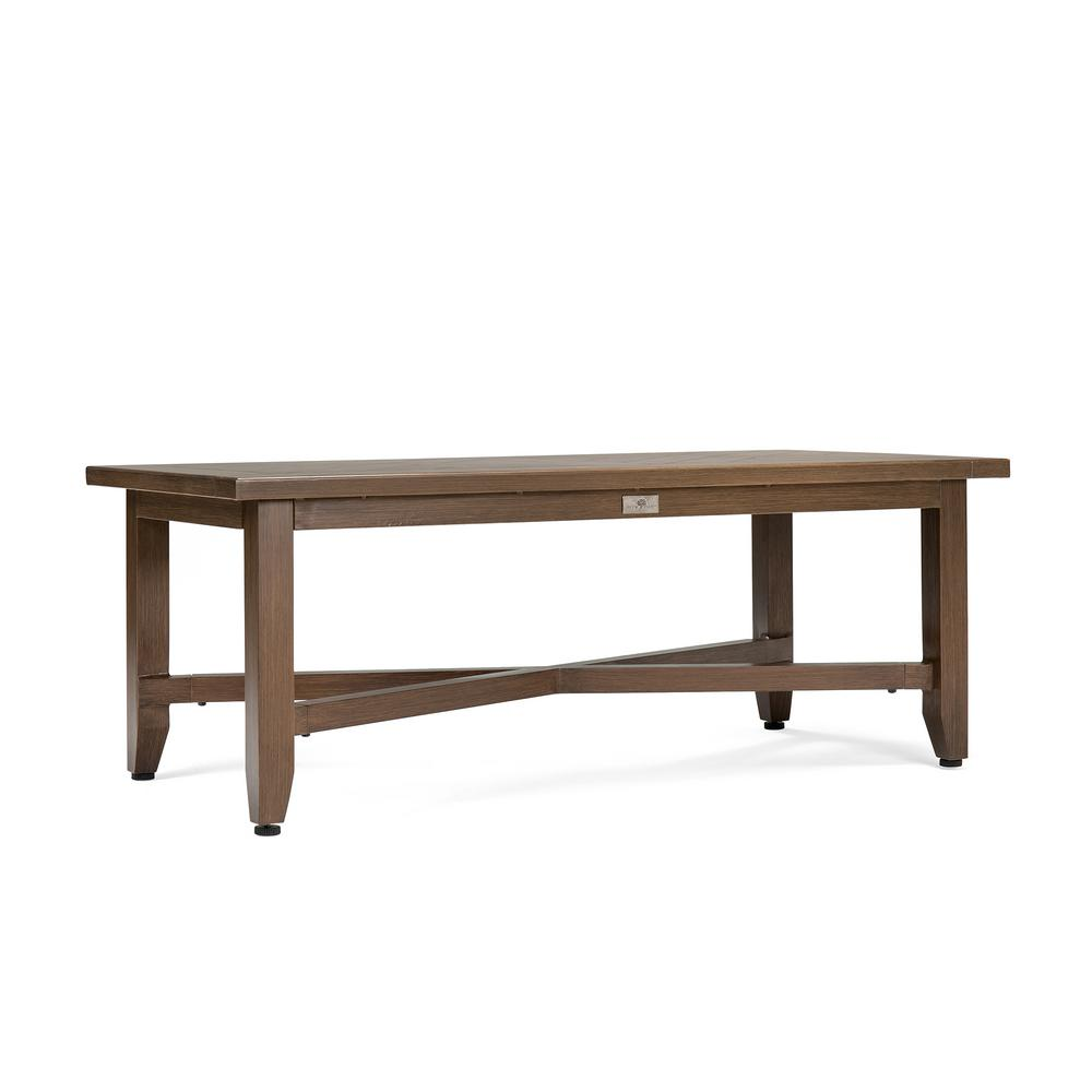 Blue Oak Bahamas Rectangular Aluminum Outdoor Coffee Table Hbaht7 The Home Depot