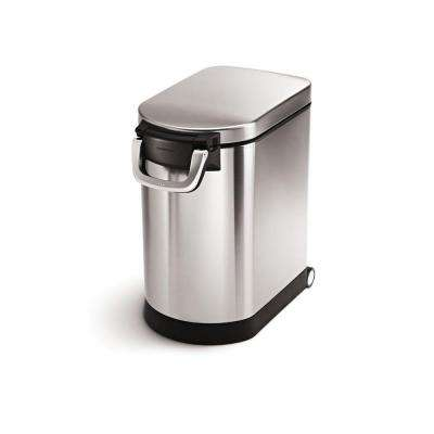Medium Pet Food Storage Can in Fingerprint-Proof Brushed Stainless Steel
