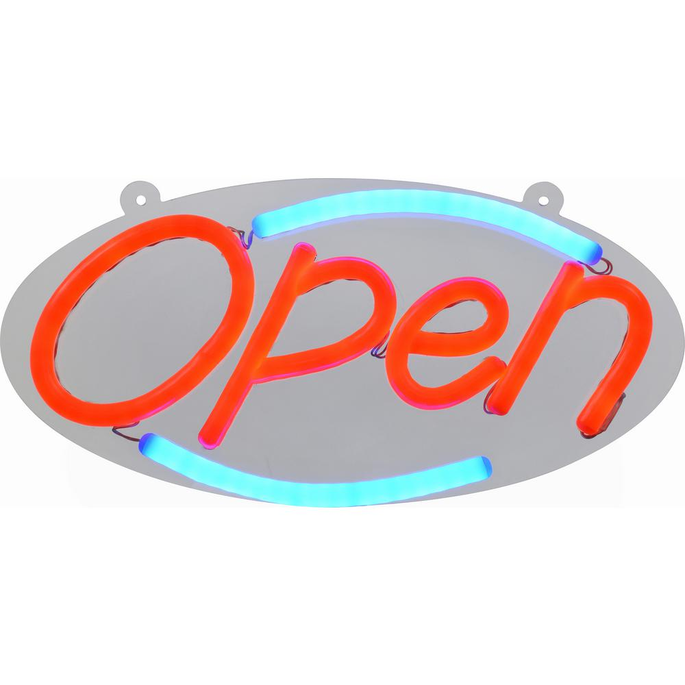 16 In Compact Led Open Sign 848898 The Home Depot