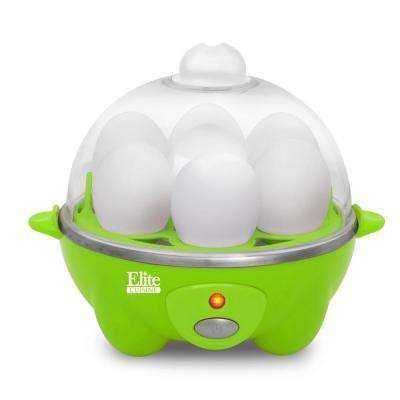 7 Egg Automatic Easy Egg Cooker Green Color