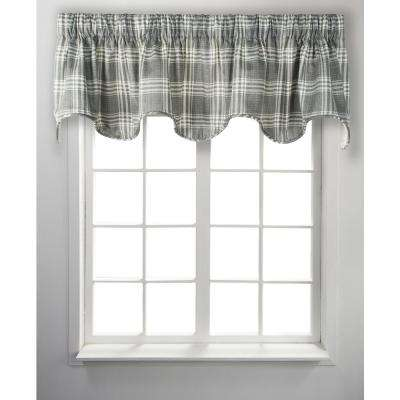 Bartlett 17 in. L Cotton Lined Scallop Valance in Grey