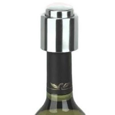 Brushed Stainless Steel Wine Stopper