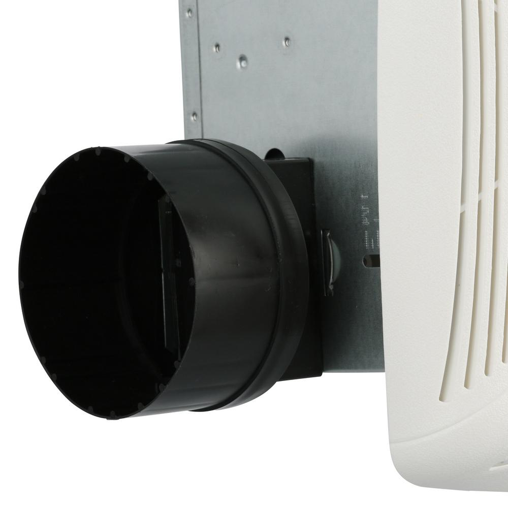 White Ceiling Bathroom Exhaust Fan 50 CFM W/ Light Shower ...