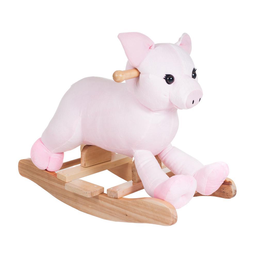 Plush Pink Rocking Hamlet Pig