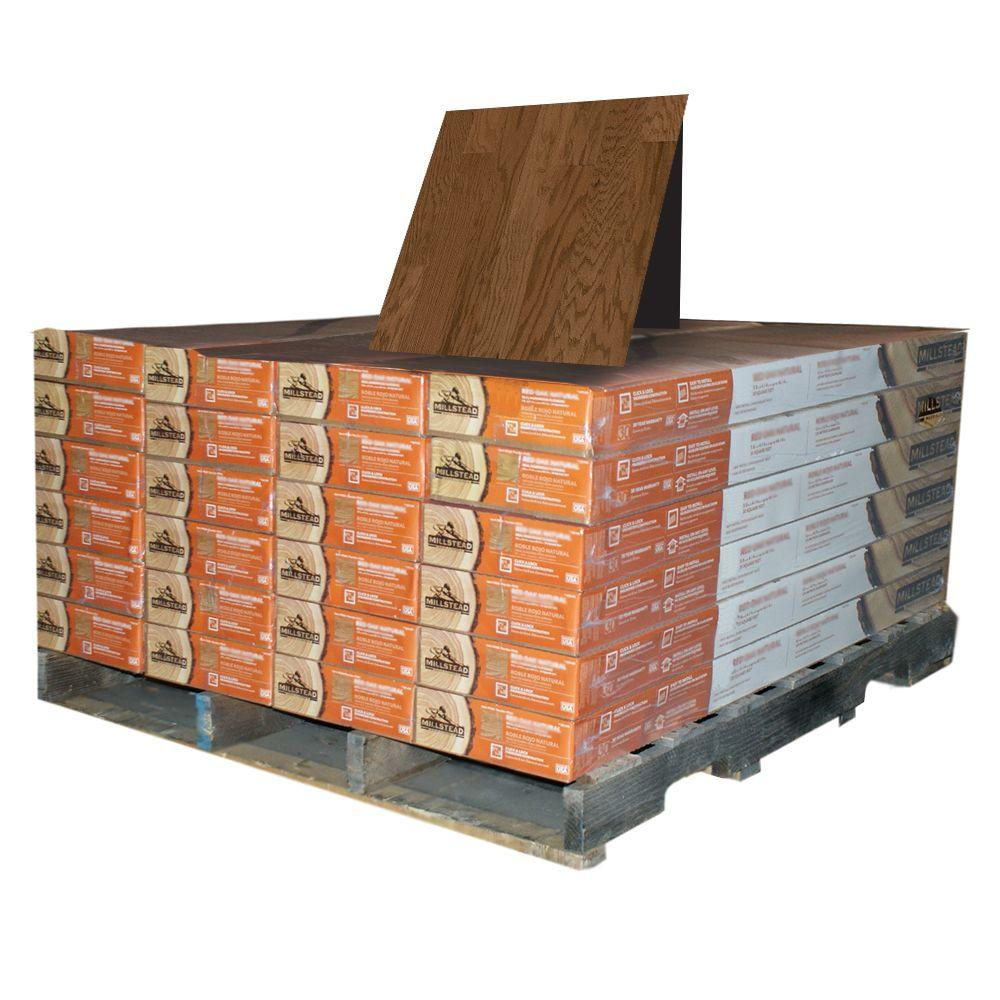 Millstead Oak Mink 3/8 in. Thick x 4-1/4 in. Wide x Random Length Engineered Click Hardwood Flooring (480 sq. ft. / pallet)