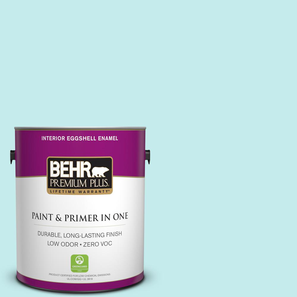 BEHR Premium Plus 1-gal. #P460-1 Morning Sky Eggshell Enamel Interior Paint