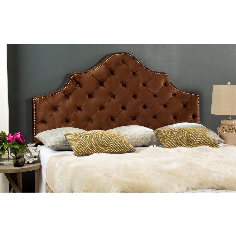 Safavieh Arebelle Chocolate Queen Headboard-MCR4036J-Q - The Home Depot