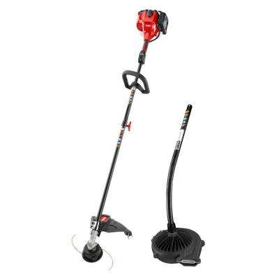 2-Cycle 25.4cc Attachment Capable Straight Shaft Gas String Trimmer with Blower Attachment