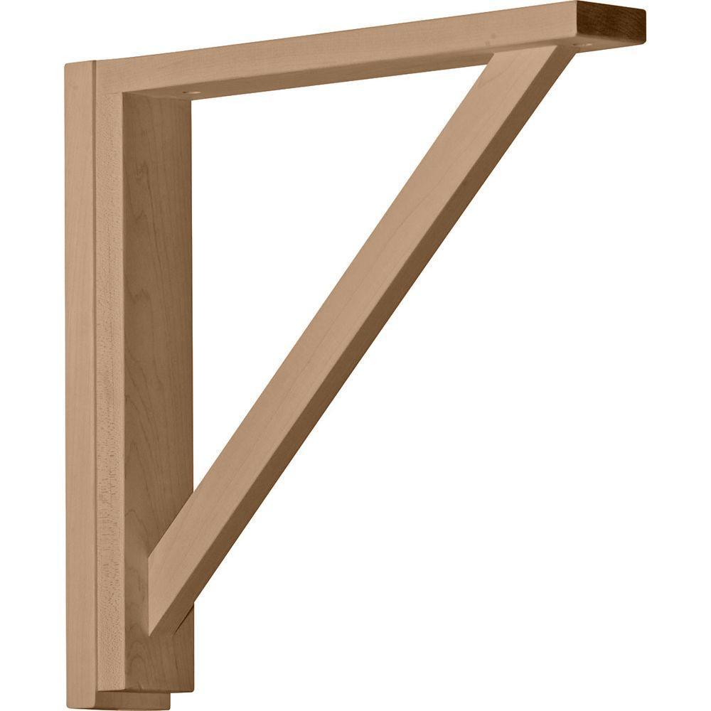 2-1/2 in. x 14-3/4 in. x 14-1/4 in. Rubberwood Traditional Shelf